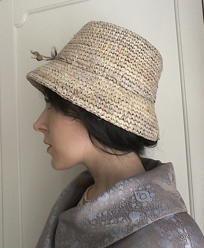 Straw bucket hat - side