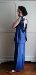 Twenties style 1920's blouse trousers tassle lace applique