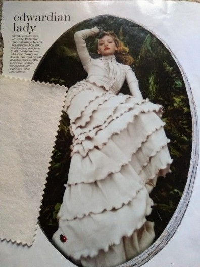 From my Vogue scrapbook - Edwardian lady theme